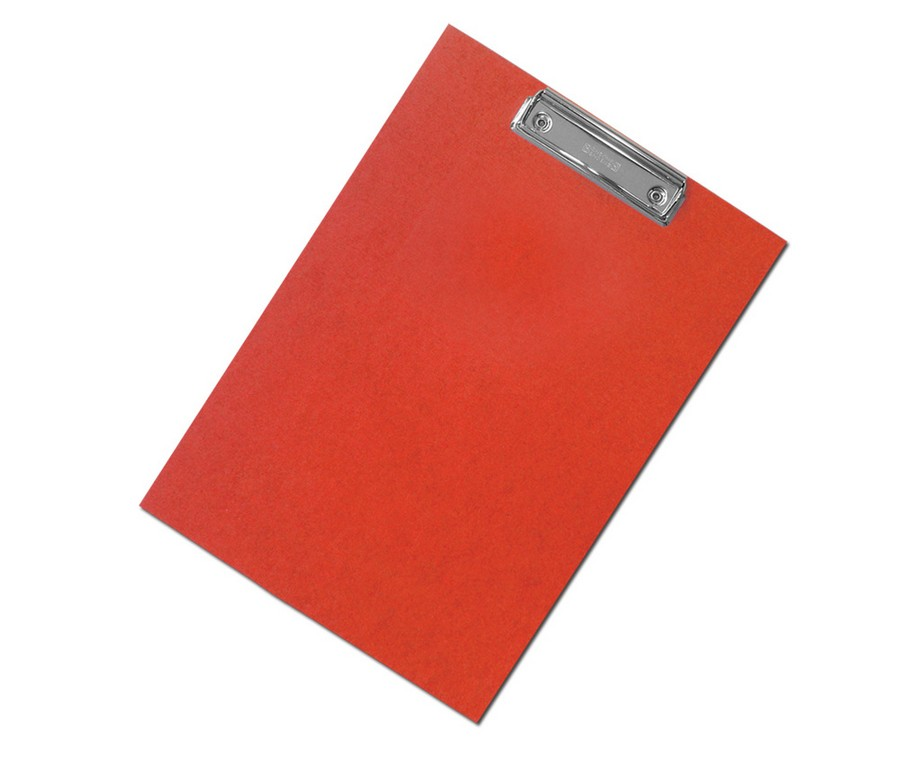 Podložka na psaní s klipem A4 červená