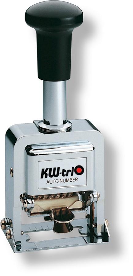 Číslovačka automatická 6mm/6míst, celokovová s černým plastovým držadlem