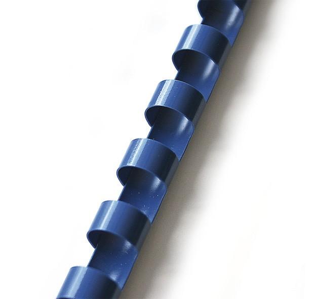 Hřbet pro kroužkovou vazbu 22 mm modrý / 50 ks