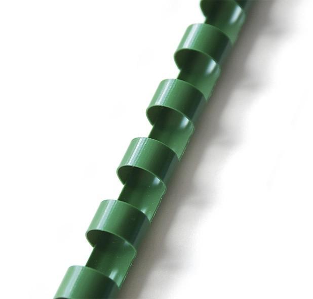Hřbet pro kroužkovou vazbu 25 mm zelený / 50 ks