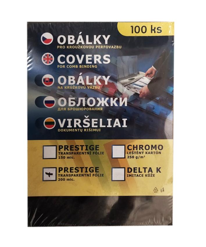Přední strana - transparentní /100ks kouřová A4/200 mic.