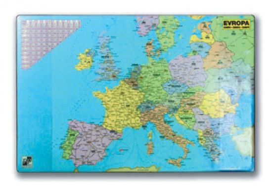 Podložka na stůl A2 mapa Evropy