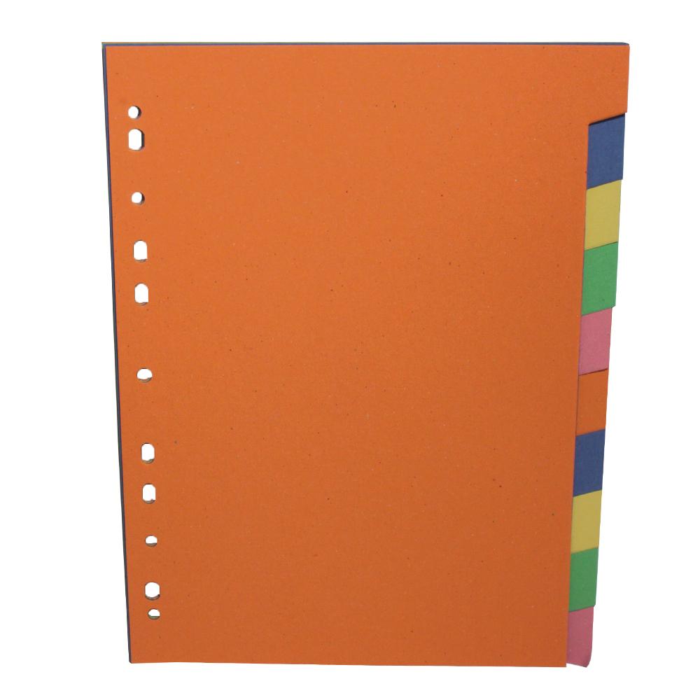 Rozdružovač papírový A4 10 barev