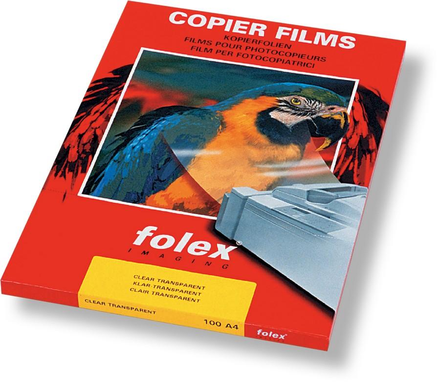 Fólie pro zpětnou projekci Folex X 10 pro černobílé kopírky 100 listů