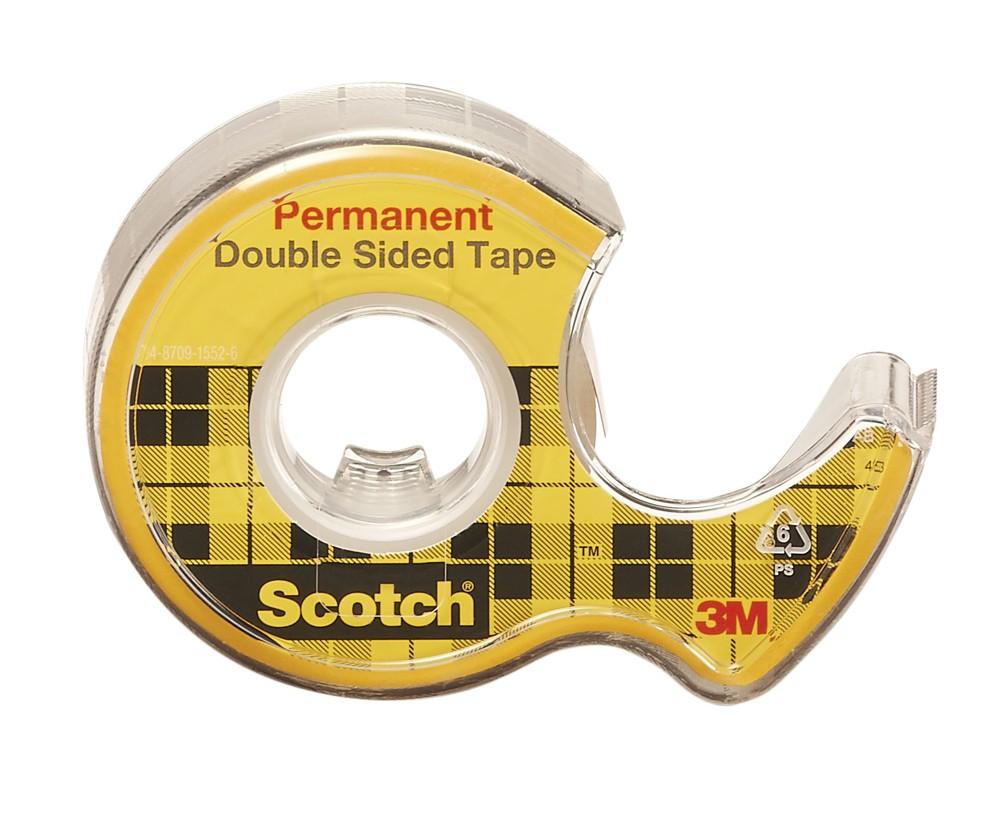 Lepicí páska oboustranná SCOTCH 12 mm x 6,3 m čirá s odvíječem