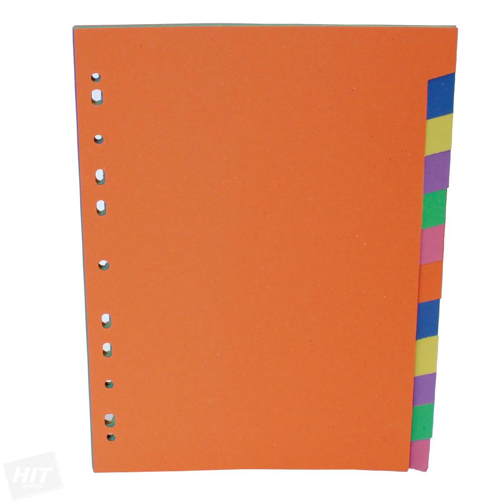 Rozdružovač papírový A4 12 barev