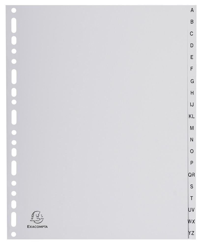 Rozdružovač A4 MAXI PP šedý abecední A-Z