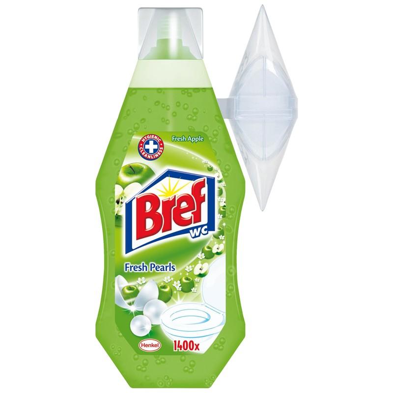 Bref WC gel 360 ml Green Apple náplň s košíčkem