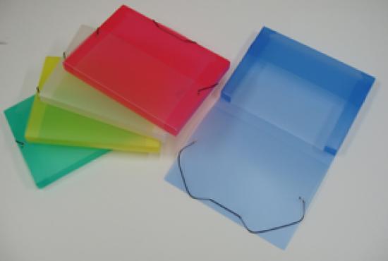 Box na spisy PP ICE A4 modrý