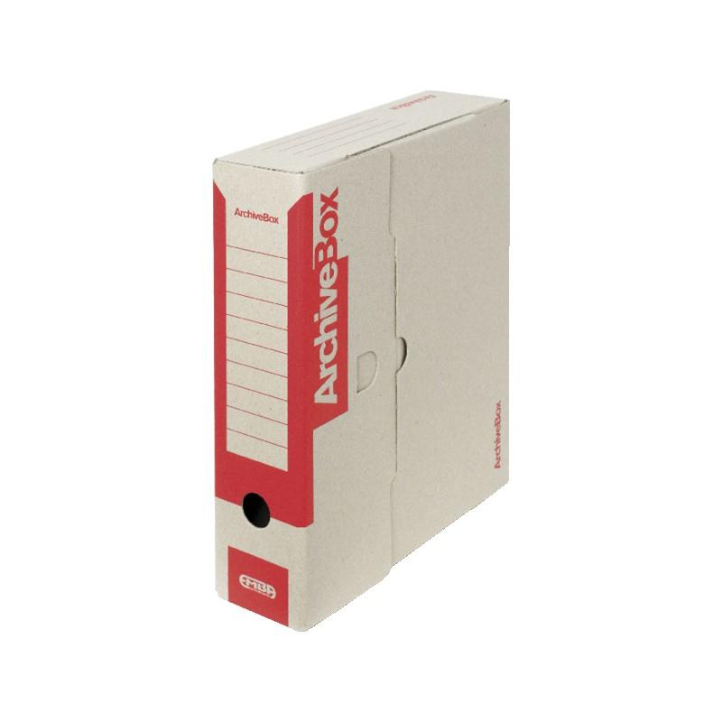 Box archivační barevný 330 x 260 x 75 mm červený