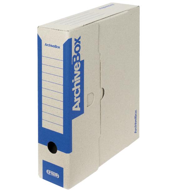 Box archivační barevný 330 x 260 x 75 mm modrý