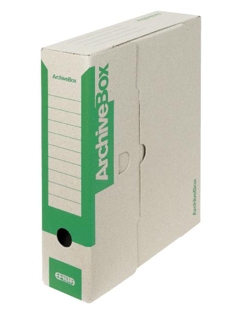 Box archivační barevný 330 x 260 x 75 mm zelený