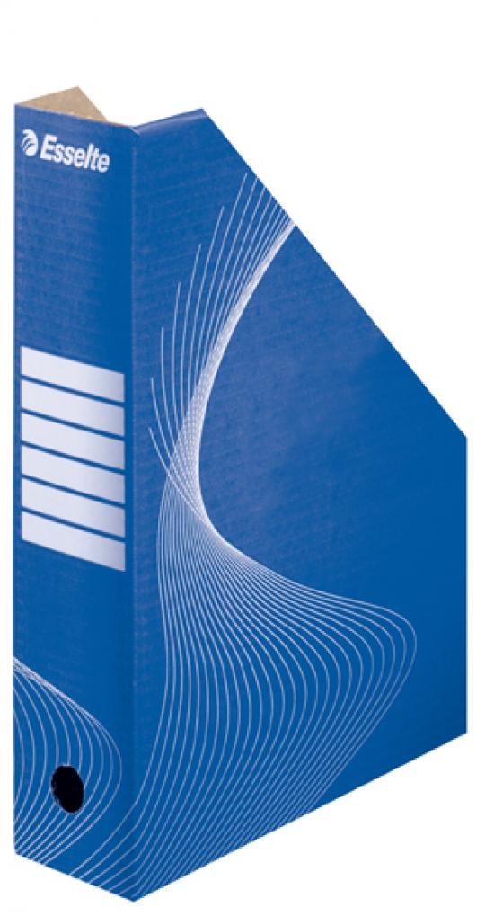 Stojan na časopisy kartonový modrý