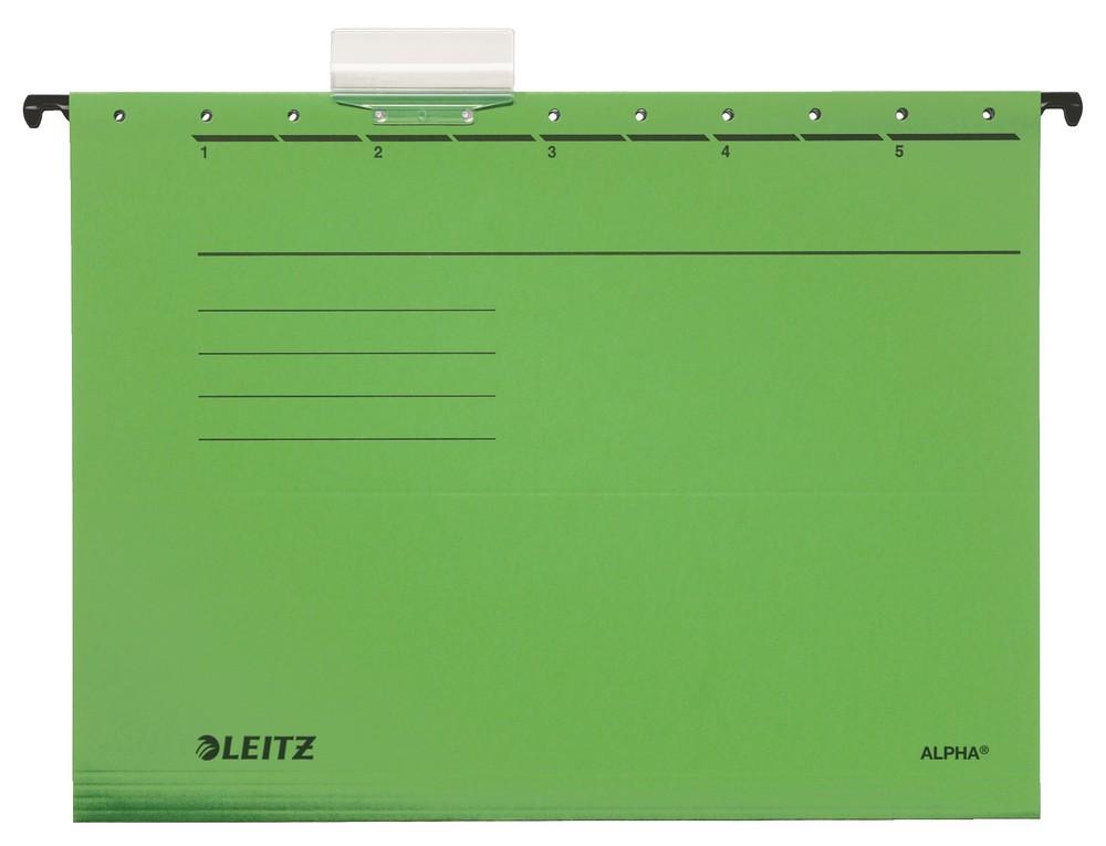 Závěsné desky Leitz ALPHA zelené