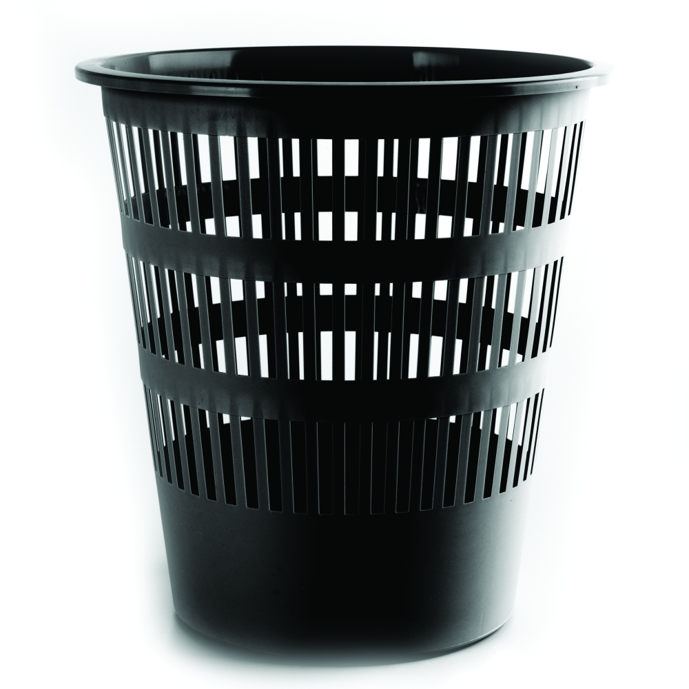 Koš odpadkový děrovaný černý