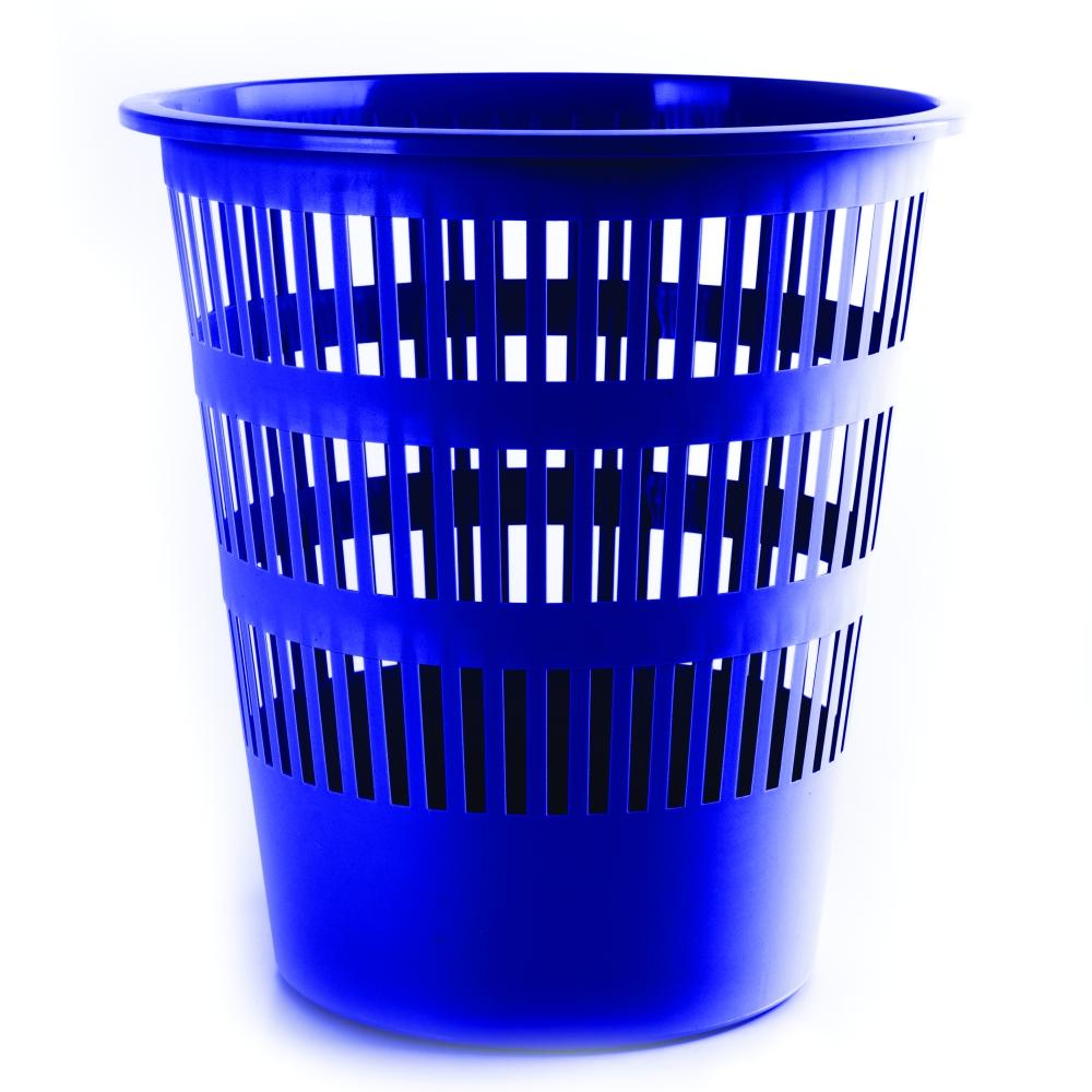 Koš odpadkový děrovaný modrý