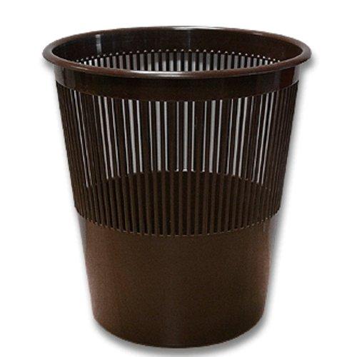 Koš odpadkový děrovaný hnědý