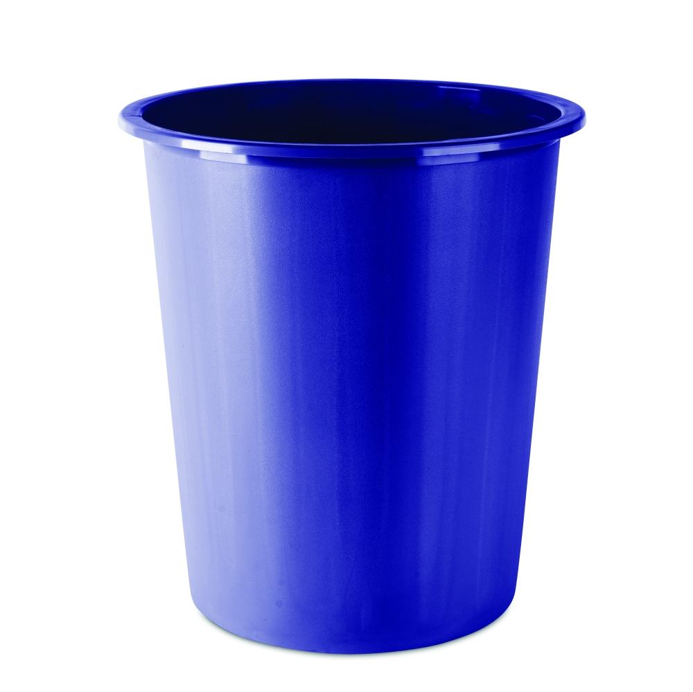 Koš odpadkový plný modrý
