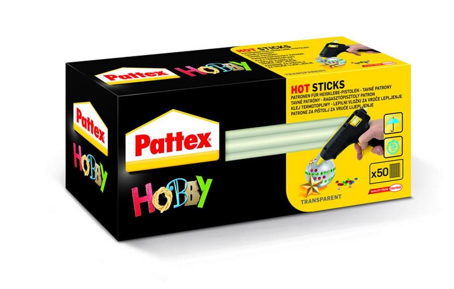 Tyčinky do tavné pistole Pattex 1 kg (50 ks)