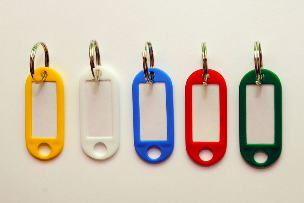 Jmenovky na klíče 20 x 55 mm / 10 ks