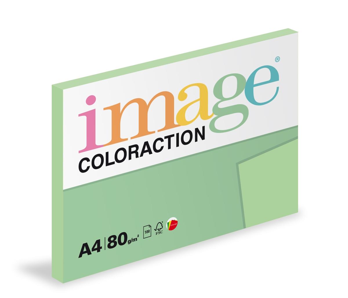 Papír kopírovací Coloraction A4 80 g zelená pastelová 100 listů