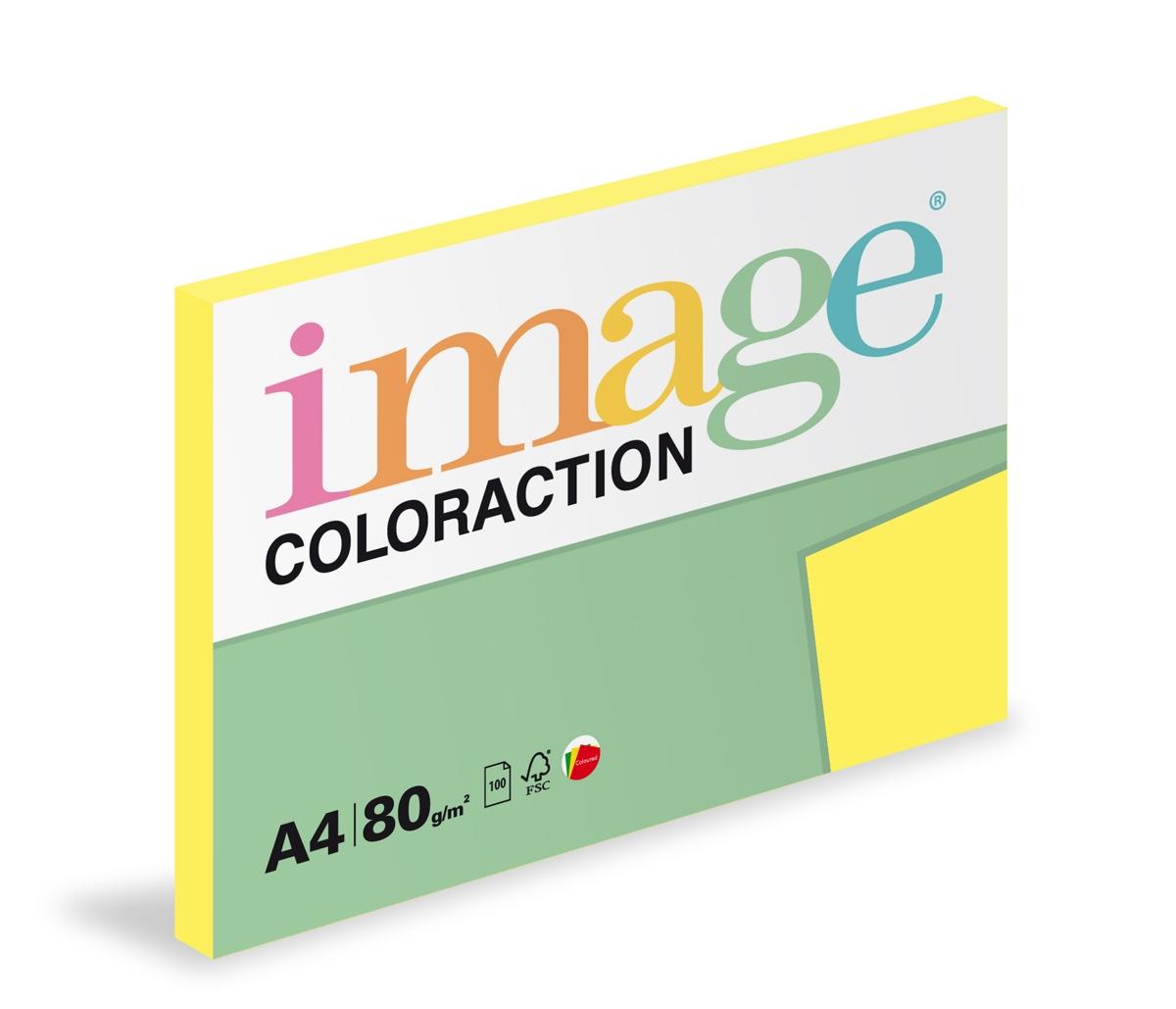 Papír kopírovací Coloraction A4 80 g žlutá střední 100 listů
