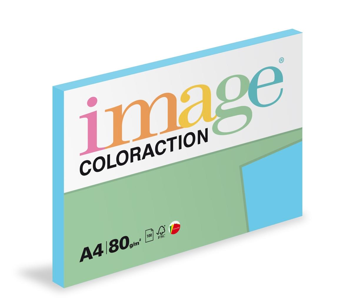 Papír kopírovací Coloraction A4 80 g modrá sytá 100 listů