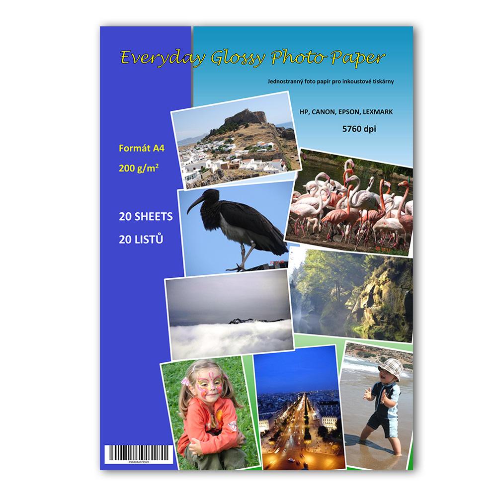 Fotopapír A4 200g, 20 listů Folex lesklý