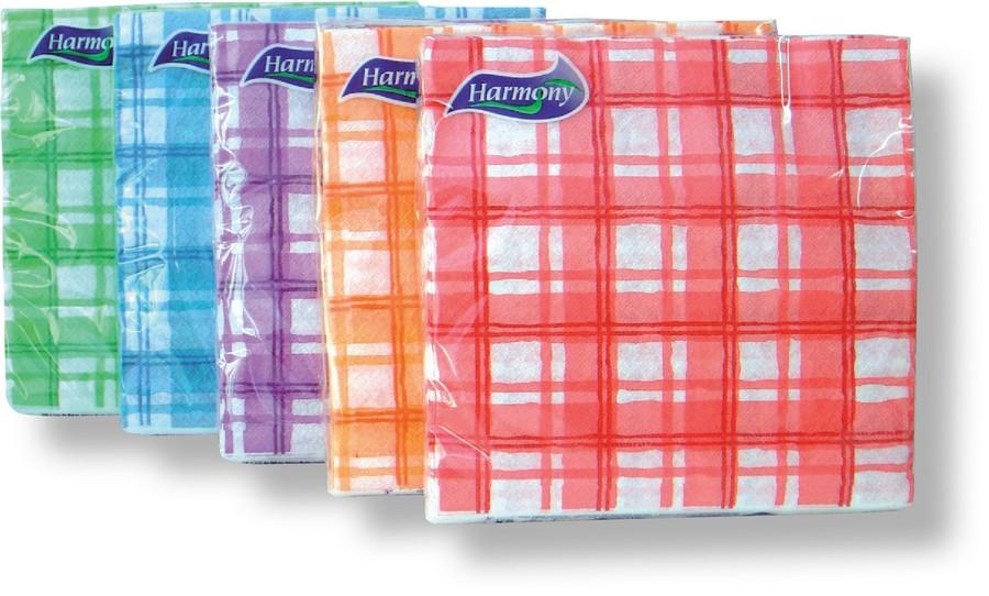 Ubrousky Harmony barevný potisk 33 x 33 / 30 ks