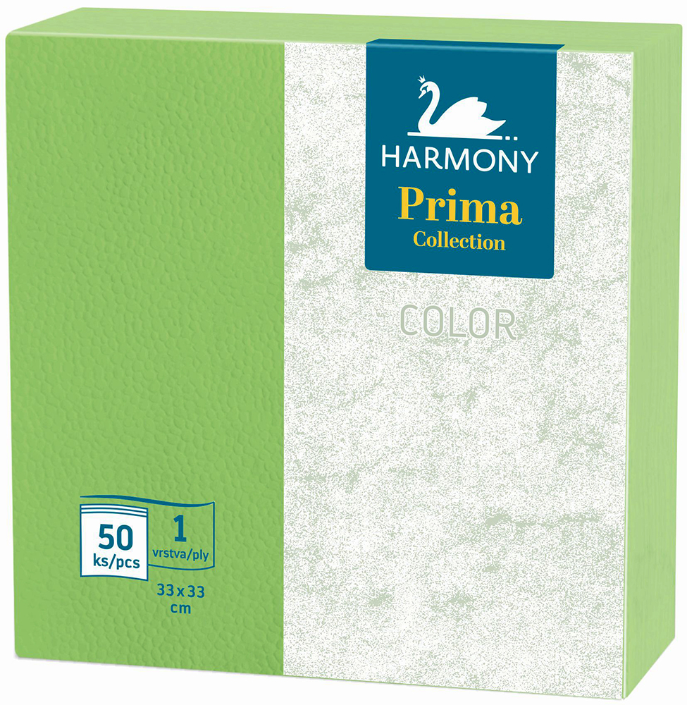 Ubrousky Harmony Color 33 x 33 zelené / 50 ks