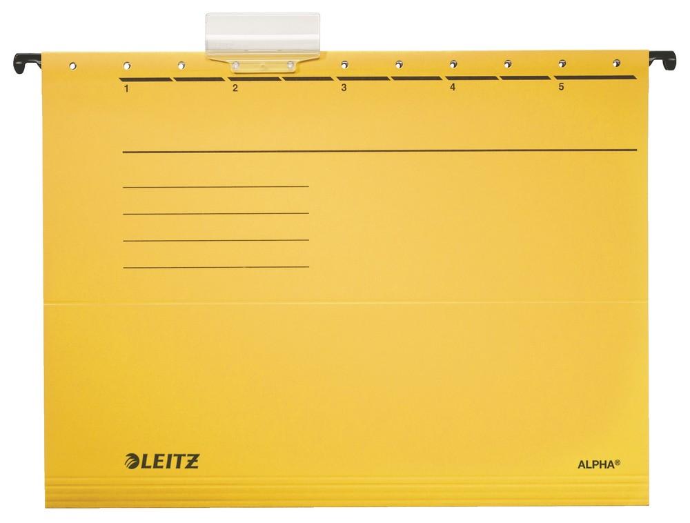 Závěsné desky Leitz ALPHA žluté