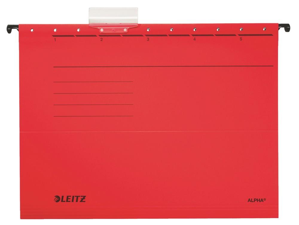Závěsné desky Leitz ALPHA červené