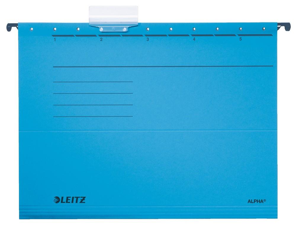 Závěsné desky Leitz ALPHA modré