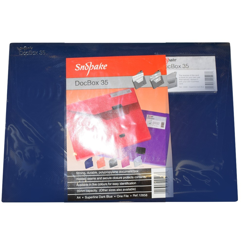Box krabicový SNOPAKE A4 3,5 cm modrý