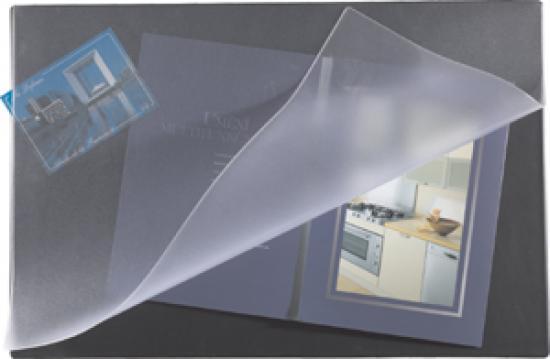 Podložka na stůl 60 x 40 pěnová s odklápěcí fólií modrá