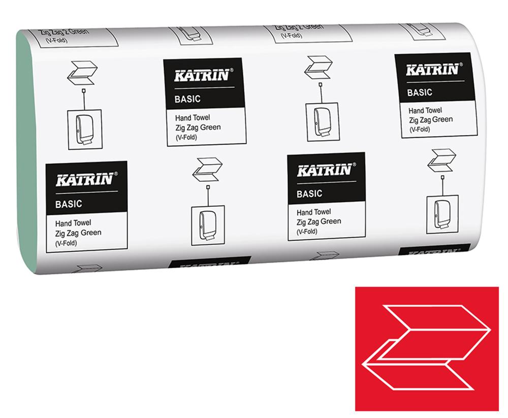 Ručník ZZ Katrin Basic 1-vrstvý 23 x 23 cm 5000 ks zelený