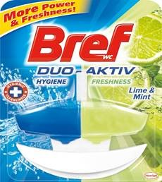 Bref WC Duo Aktiv Lime&Mint (Lemon) 50 ml se závěsem