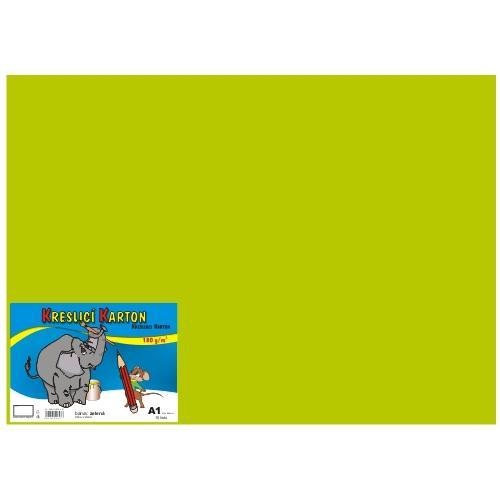 Karton kreslicí barevný A1 180g / 10l zelený