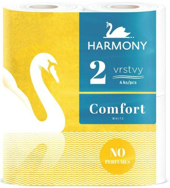 Papír toaletní Harmony Comfort 160 útržků 2 vrstvý / 4 ks