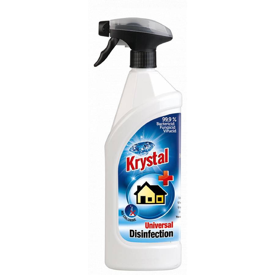 Krystal univerzální dezinfekce 750 ml bez chlóru s rozpr. 99,9% bakt.