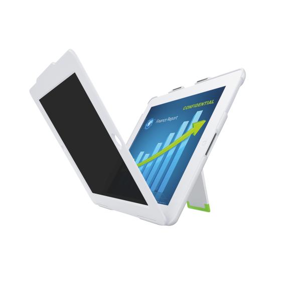 Kryt Leitz Complete se stojánkem a privátním horizontálním filtrem pro iPad/iPad2 bílý