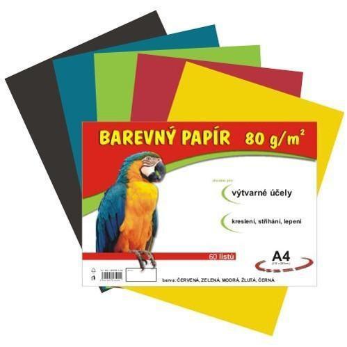 Papír náčrtkový A4 80g / 60l mix 12 barev