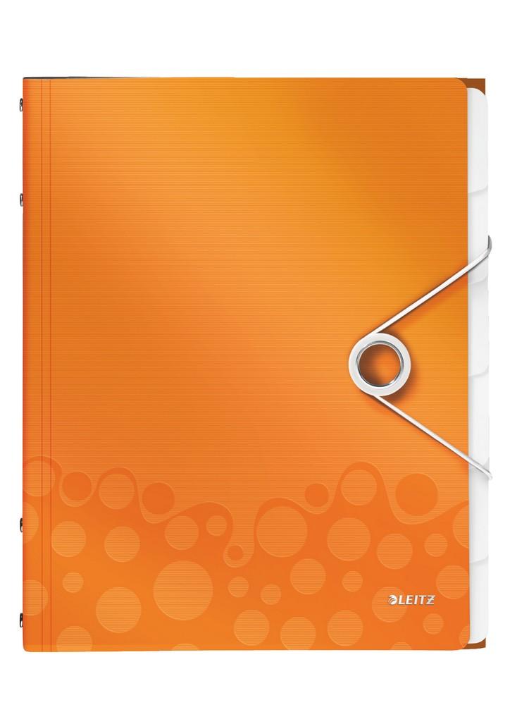 Rozdružovací kniha Leitz WOW 6ti dílná oranžová