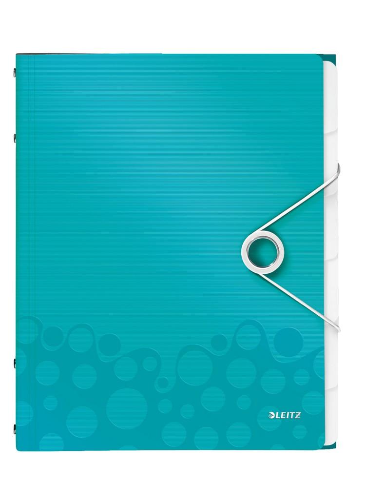 Rozdružovací kniha Leitz WOW 6ti dílná ledově modrá