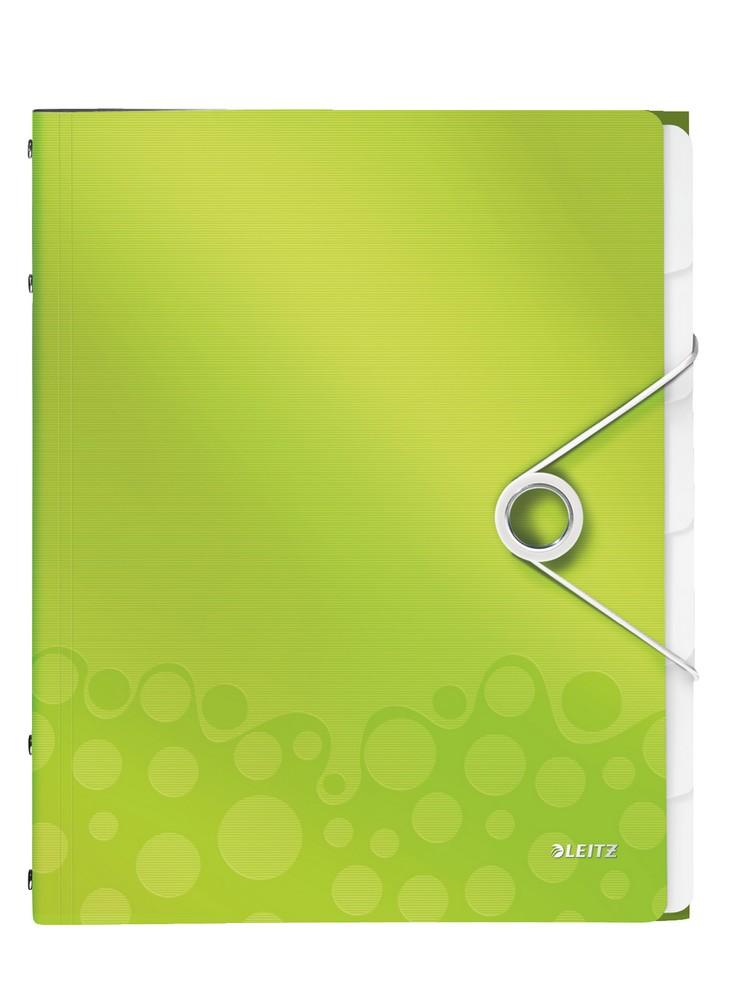 Rozdružovací kniha Leitz WOW 6ti dílná zelená