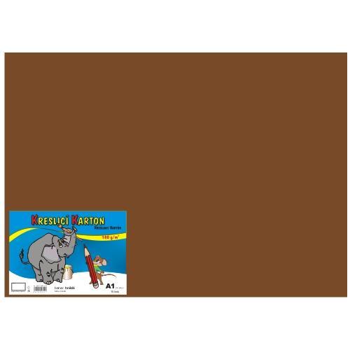 Karton kreslicí barevný A1 180g / 10l hnědý