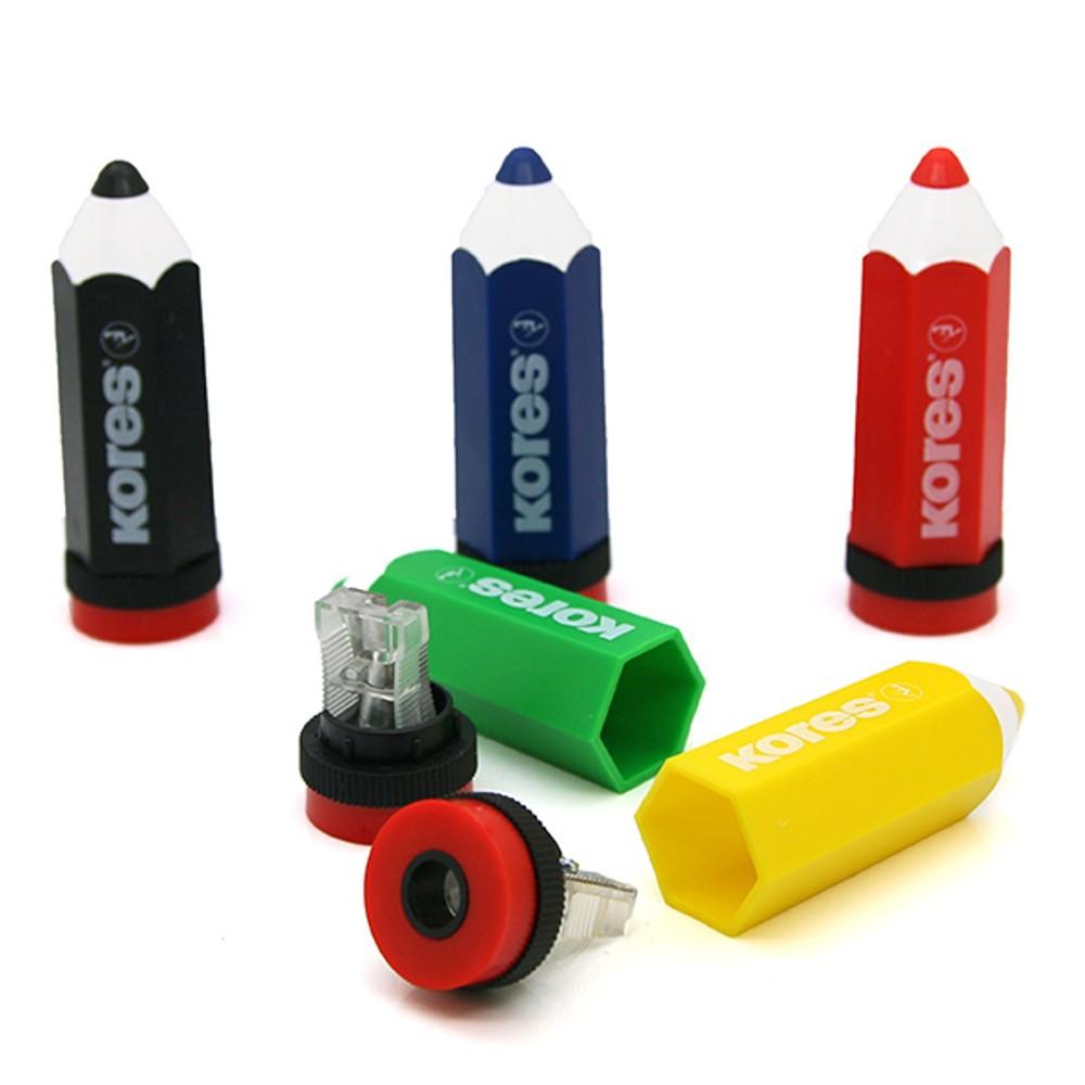 Ořezávátko plastové Kores Koloritos (tužka) 1 otvor se zásobníkem