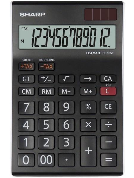 Kalkulačka SHARP EL125TWH stolní / 12 míst.