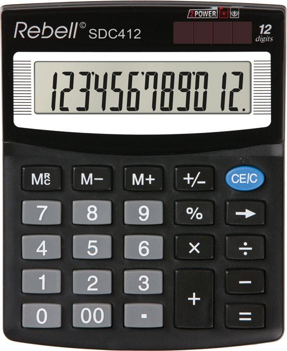 Kalkulačka Rebell SDC 412 stolní / 12 míst.