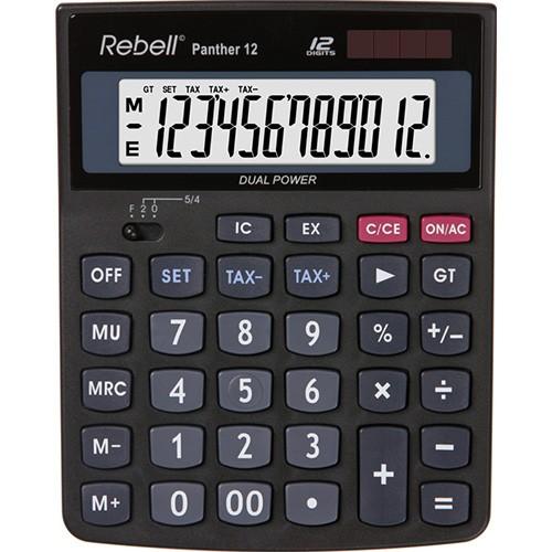 Kalkulačka Rebell Panther 12 stolní / 12 míst